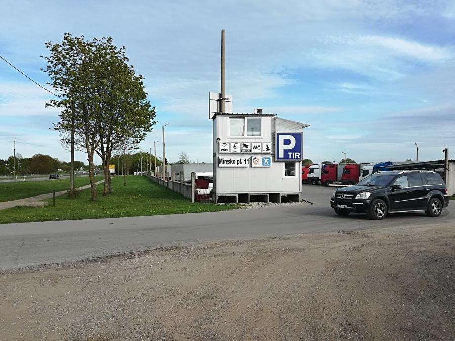Safe parking at Vilnius airport.  1